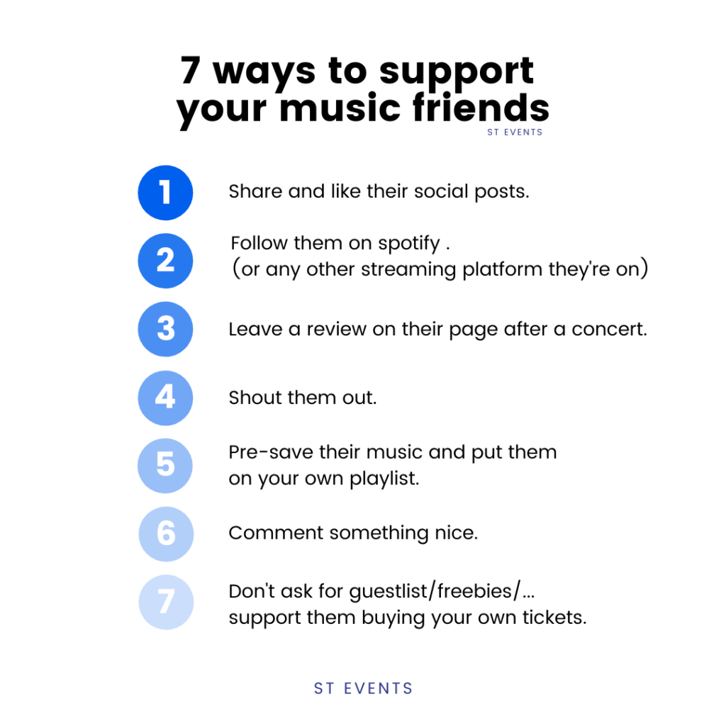 7 ways to support your music friends